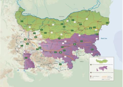 Vinregioner i Bulgaria